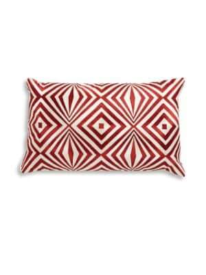 Loloi Embroidered Cotton Throw Pillow