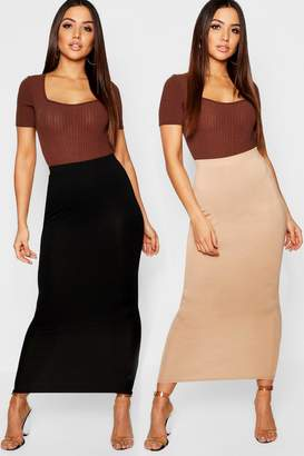 boohoo 2 Pack Basic Midaxi Skirt