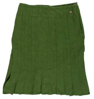 Sonia Rykiel Linen Knee-Length Skirt