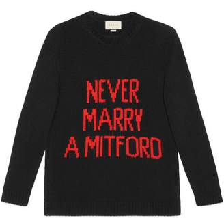 """Never Marry a Mitford"" sweater"