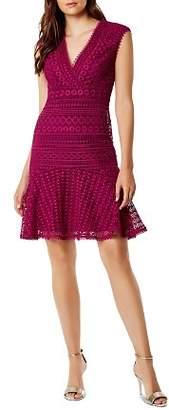 Karen Millen Flounce-Hem Lace Dress
