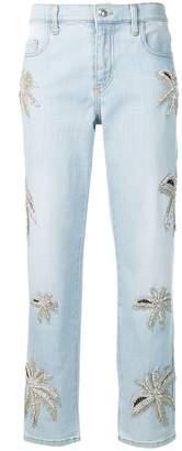 Philipp Plein boyfriend fit denim trousers
