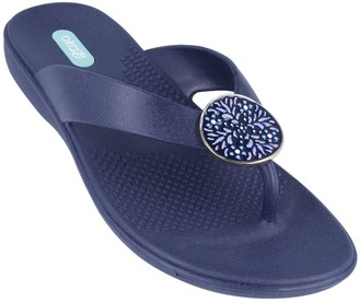 OKA b. OkaB Enamel Pendant Sandals - Brianne