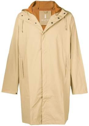 Rains waterproof hooded coat