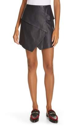 Joie Akirako Leather Miniskirt