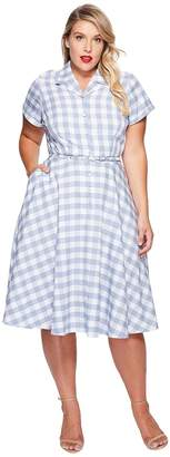 Unique Vintage Plus Size Alexis Shirtdress Women's Dress