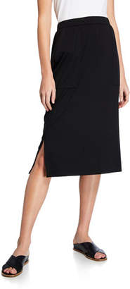 a54f498f3a Eileen Fisher Petite Slim Jersey Skirt with Side Slits