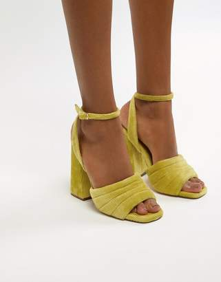 Asos DESIGN Haiku padded Block Heeled Sandals