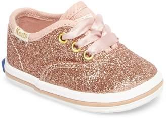 Keds R) x kate spade new york Champion Glitter Crib Shoe