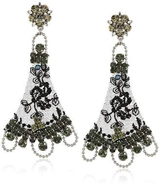 Badgley Mischka Lace Drop Earrings