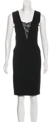 Emilio Pucci Lace-Trimmed Knee-Length Dress w/ Tags