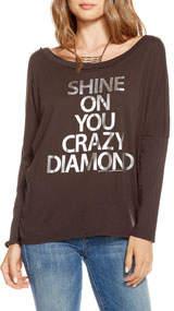 Chaser Shine on Diamond Boat-Neck Long-Sleeve T-Shirt