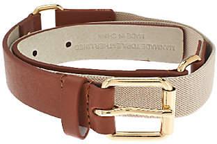 Isaac Mizrahi Live! Leather Belt w/ HarnessBuckle