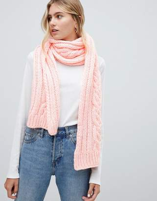 Hollister cable knit scarf