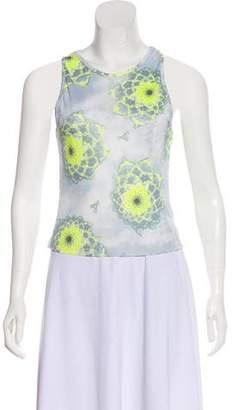 Versace Printed Sleeveless Top
