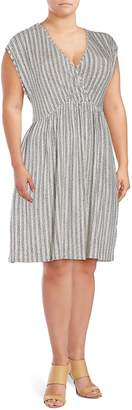 Tart Women's Vita Striped Dress - Grey Striped, Size 2x (18-20)
