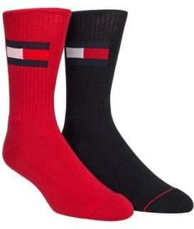Tommy Hilfiger Two-Pack Flag Crew Socks
