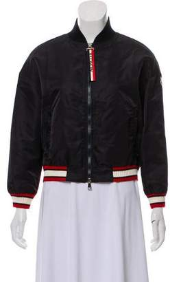Moncler Actinote Nylon Satin Bomber style Jacket