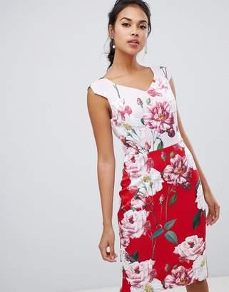 Ted Baker Saafi Iguza Two Tone Pencil Dress