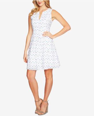 CeCe Pleated Printed Dress