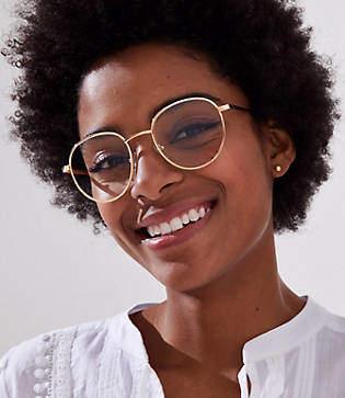 LOFT Metallic Round Reading Glasses