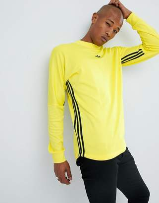 adidas Authentic Long Sleeve Top In Yellow DJ2869