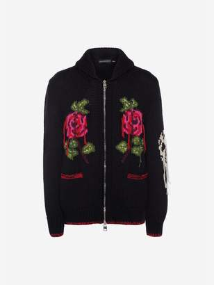 Alexander McQueen Rose Embroidered Chunky Knit
