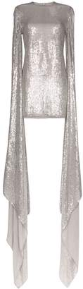 Ashish drape sleeve sequin mini dress