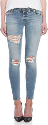 Love Moschino Distressed Skinny Jeans