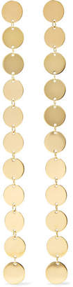 Saskia Diez Paillettes 18-karat Gold-plated Earrings