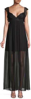 BCBGeneration Cap-Sleeve Maxi Dress