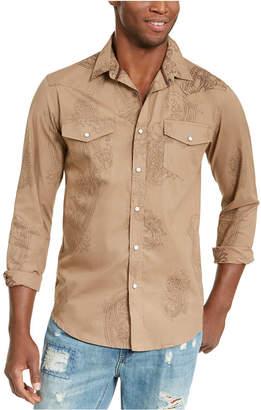 American Rag Men Western Paisley Shirt