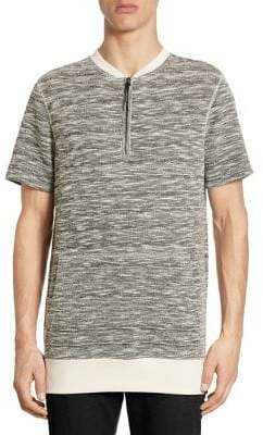 Saks Fifth Avenue x Anthony Davis Short Sleeve Melange Crewneck Tee