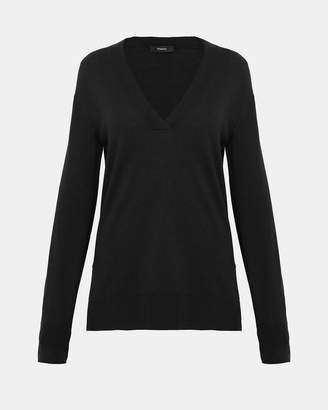 Theory Silk Blend V-Neck Sweater
