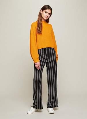 Miss Selfridge Black striped wide leg trousers