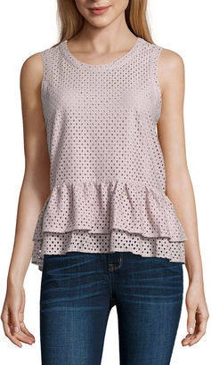 A.N.A a.n.a Sleeveless Lace Peplum Blouse $36 thestylecure.com