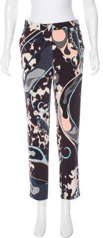 Emilio Pucci Mid-Rise Silk Pants