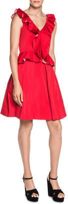 Double Sided Frill Sleeveless Dress