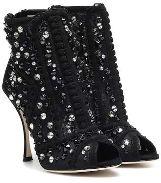 Dolce & Gabbana Embellished ankle boots