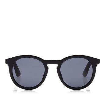 Jimmy Choo ALBERT Grey Lenses and Black Acetate Oval Frame Sunglasses