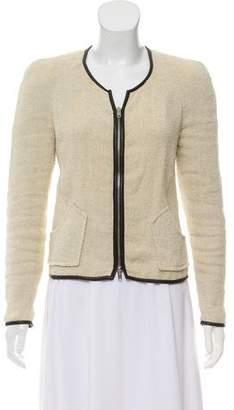 Isabel Marant Leather-Trimmed Linen Jacket