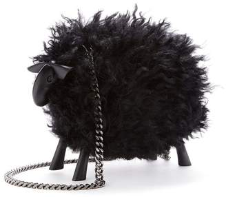 Oscar de la Renta Juice The Sheep Shearling Bag In Black