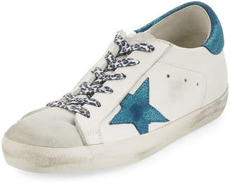 Golden Goose Metallic Lace-Up Star Sneakers