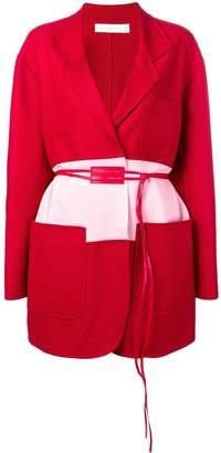 Victoria Beckham colour-block belted coat