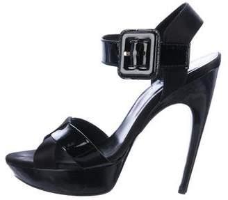 Roger Vivier Patent Leather Ankle Strap Sandals