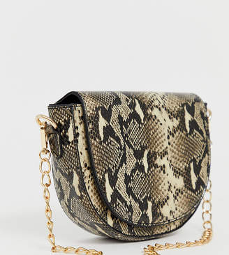 My Accessories London Exclusive snakeskin chain strap shoulder bag