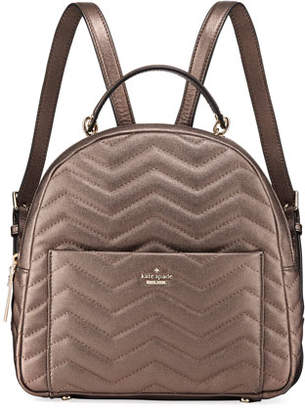 Kate Spade Reese Park Ethel Metallic Leather Backpack