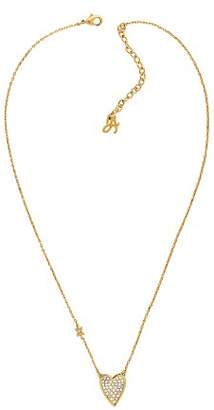 Adore Pointed Heart Necklace, 16""