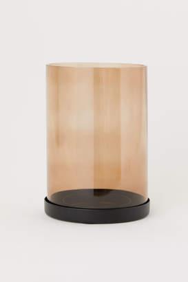 H&M Large Glass Candle Lantern - Orange