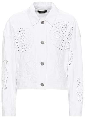 Isabel Marant Rena lace-trimmed denim jacket